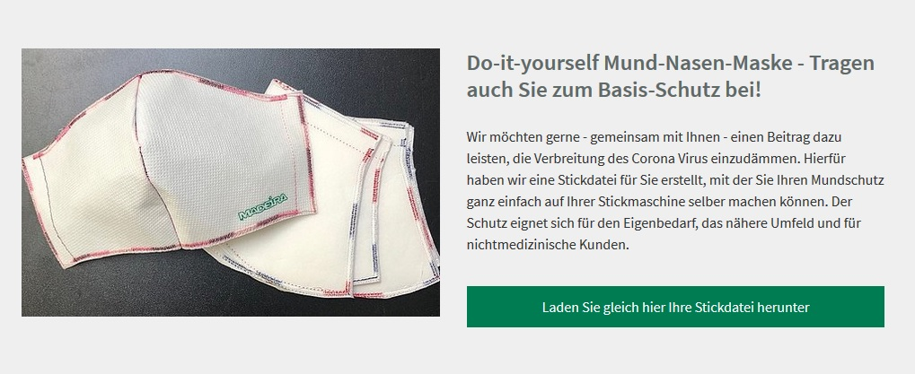 Do-it-yourself Mund-Nasen-Maske