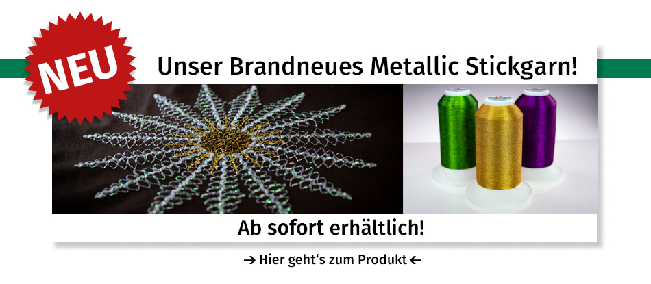 Brandneues Metallic Stickgarn